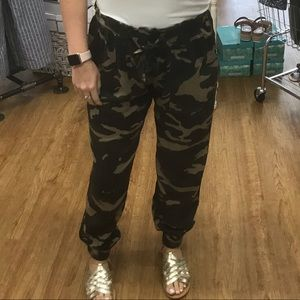 Camo Joggers (Boutique brand), workin ONCE